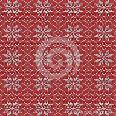 Red And White Knitted Snowflakes Background Royalty Free Stock Photo - Image: 27589275