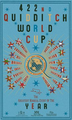 422nd Quidditch World Cup poster, from Harry Potter and The Goblet of Fire - The Independent