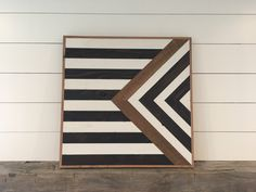 A personal favorite from my Etsy shop https://www.etsy.com/listing/504707089/stripes-reclaimed-wood-wall-art