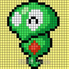 ポケモンXYZに登場する謎のポケモン「プニちゃん」をアイロンビーズの図案にしてみました! プニプニしていて謎が多いポケモンのプニちゃんですが正式名称は「コードネームZ1」というらしい!? ポケモンwikiによると・・・ フラダリが率いるフレア団からは「Z1」というコードネームが付けられている。カロス地方の何処かに潜むポケモン・ジガルデの本体であり、脳という役目を持つ。 で!ポケモン・ジガルデ…