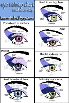 Eye makeup chart based of eye shape