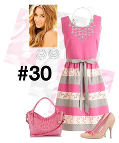 """""""#30 - 100 Dresses Spring/Summer 2014"""" by curvygirlamy ❤ liked on Polyvore featuring moda, RED Valentino, White House Black Market, Metropark y Brahmin"""