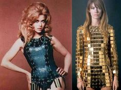 "Jane Fonda y Francoise Hardy, musas sesenteras de Rabanne. Diseñó vestuario en 35 películas,  ""Barbarella· de Robert Vadim,  ""Casino Royale"", dirigida por John Houston; ""Barbarella"", de Roger Vadim; ""Two or Three Things I know About Her"", dirigida por Jean-Luc Godard; o ""The Adventurers"", de Robert Enrico"