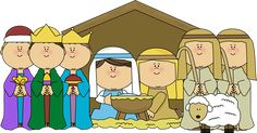 baby christmas clipart | Nativity Scene with Shepherds and Wisemen Clip Art - Nativity Scene ...