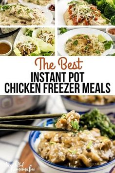 Do you love the idea of getting ahead and planning out some meals? If so, you're about to see some of the Best Instant Pot Chicken Freezer Meals here, along with some great Instant Pot tips. #InstantPot #PressureCooker #Mealthy #Chicken #FreezerMeals #MealPlan #MenuPrep Healthy Recipes For Weight Loss, Healthy Foods To Eat, Healthy Eating, Chicken Freezer Meals, Chicken Recipes, Instant Pot, Meal Planning, Good Food, Favorite Recipes