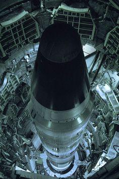 Titan II ICBM missile, in silo, 1999. by eyetwist on Flickr.