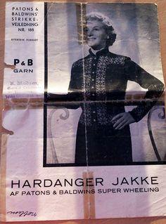 188 Hardanger jakke Vintage Knitting, Diva, Outfits, Hardanger, Threading, Suits, Divas, Kleding, Outfit