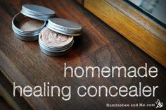 """Fantastic recipe and photo instructions for healing concealer, """"I selected rose-hip oil and sea buckthorn oil for their supposedly legendary anti-acne wonders, and vitamin E for its general awesomeness..."""""""