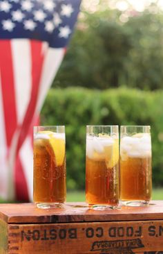 Boston Tea Party iced tea cocktail (that's perfect for Fourth of July.) from @camillestyles