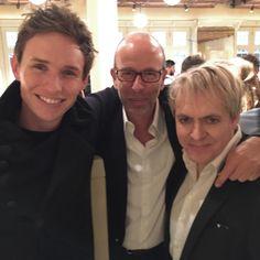 Good luck at the BAFTA's tomorrow night, Eddie!  from L-R Eddie Redmayne, Eric Felner & Nick Rhodes