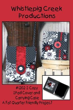 iCozy - iPad Cover and Carrying Case Pattern $7 via Whistlepig Creek Productions