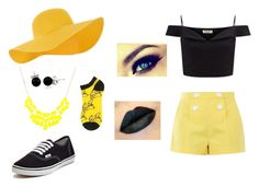 """""""Black and Yellow"""" by hai-i-love-oreos on Polyvore featuring Accessorize, Lipsy, Boutique Moschino, Vans and Bling Jewelry"""
