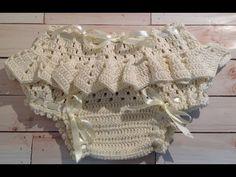 Calcinha de crochê tam 3-6 meses (conjunto do vestido) - YouTube