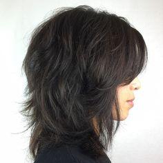 Wispy+Brunette+Shag+Hairstyle