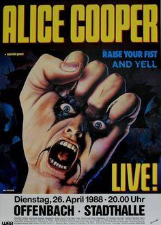 Alice Cooper Concert Poster