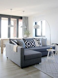 10 Tips for Choosing the Best Modern Convertible Sofa Bed with Storage - HABthemes Living Room White, White Rooms, Living Room Sofa, Home Living Room, Apartment Living, Living Room Designs, Living Room Decor, Dining Room, Small Living