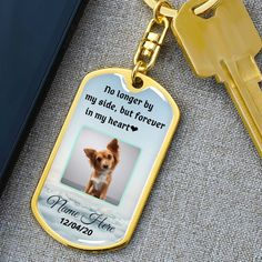 #pet #jewelry #memorialjewelry #petcharm #petphotocharm #photokeychain #remembrance #petlovers Memorial Jewelry, Memorial Gifts, Engraved Dog Tags, Photo Engraving, Gifts For Pet Lovers, 18k Gold, Shops, Stainless Steel, Etsy Shop