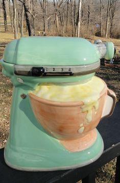 Cake mixer cookie jar