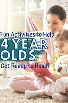 These reading activities for 4 year olds will help children get ready to read through fun, hands-on activities to do at home or in school. 4 Year Old Activities, Pre Reading Activities, Preschool Learning Activities, Kids Reading, Hands On Activities, Teaching Reading, Activities For Kids, Reading Tips, Preschool Worksheets