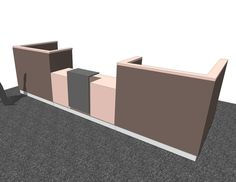 Fee 3D reception counter models download SketchUp designs