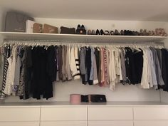 Our walk-in at home made by my boyfriend – I am one lucky girl ♥ – Kleiderschrank/Ankleide – Diy Closet Bedroom, Bedroom Storage, Bedroom Decor, Bedroom Ideas, Girl Closet, Closet Space, Open Wardrobe, Bedroom Wardrobe, Shared Rooms