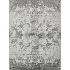 Metro Light Grey/Cream Abstract Area Rug (9' x 12')