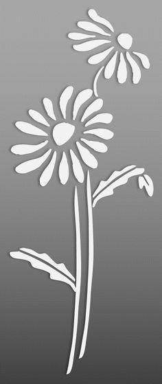 Flower – Cut Outs – Art & Islamic Graphics Glass Painting Patterns, Stencil Patterns, Stencil Designs, Mosaic Patterns, Free Stencils, Stencil Diy, Flower Stencils, Pumpkin Outline Printable, Bird Silhouette Art