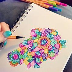 likes, 90 comments - brita lynn * zenspire designs ( Doodle Art Drawing, Mandalas Drawing, Zentangle Drawings, Cool Art Drawings, Art Drawings Sketches, Painting & Drawing, Zentangles, Zen Doodle, Mandala Art Lesson