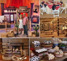 A Western themed prom party complete with countryside details #wildwest #westerntheme