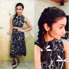 Playful Prints. Alia carries this very busy print with much grace and confidence. The 3D embellishments matching the prints are a very innovative idea. We love the furry tuft on her black stilettos!  https://www.estrolo.com/whatstrending/cat/celeb-style/ #Aliabhatt #blackandwhite #busyprints #Celebstyle #NewYearStyles #NewYearFashions #BollywoodFashion