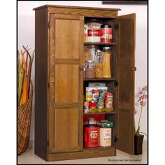 Concepts In Wood Multi-Use Storage Pantry in Dry Oak  sc 1 st  Pinterest & Free Standing Pantry-Just what I was looking for 72 high x 44 wide x ...