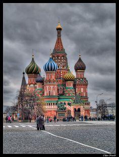 Catedral de la Intercesión de la Virgen en el Montículo,Plaza Roja,Moscú, Rusia