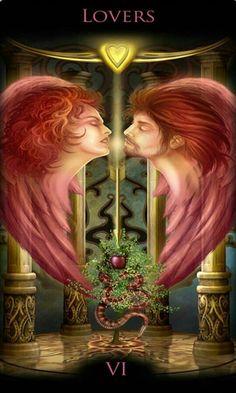 Tarot w praktyce , Lovers , Kochankowie, Boski Tarot, Legacy Divine Divine Tarot, Tarot Significado, The Lovers Tarot Card, Twin Flame Love, Tarot Card Meanings, Angel Cards, Tarot Spreads, Major Arcana, Oracle Cards