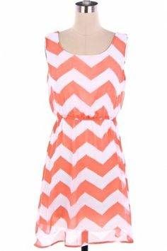 Chevon and coral dress LOVE THIS!!!!