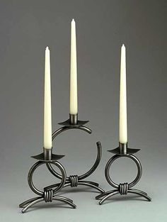 Full Moon Set by Robert L. Crecelius: Metal Candleholders available at www.artfulhome.com