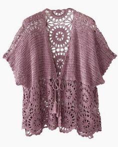 Knitting female vest patterns knitting baby vest samples # crochet - Knitting a love Cardigan Au Crochet, Crochet Jacket Pattern, Gilet Crochet, Crochet Coat, Vest Pattern, Crochet Cardigan, Crochet Scarves, Crochet Shawl, Crochet Clothes