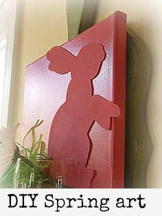 This is a cute spring/Easter decoration..could even just do a silhouette?