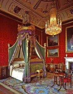 Royal bedroom in an English stately home.
