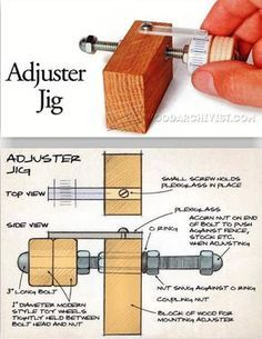 Micro Adjuster Jig - Marking Tips, Jigs and Techniques | WoodArchivist.com