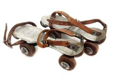 Roller Derby- Vintage Sancheski Irun Skates - Steel Skates - Leather Straps -Made in Spain - Mid-Century- Adjustable by StartTalkingVintage