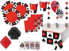 Poker und Casino Motto Party Deko Set.
