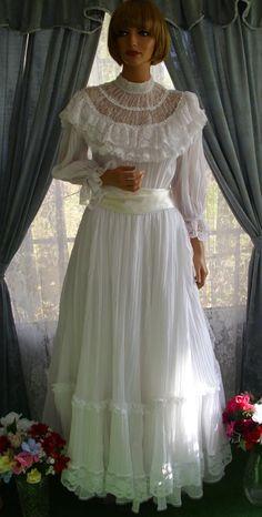 gunne+sax+dress   Vintage Gunne Sax Dress Victorian Splendor Large!