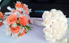 Bouquet para la virgen,bouquet de damas. #roses #alstromerias