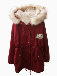 Faux Fur Wintered Shearling Padded Coat. If I lived somewhere really cold