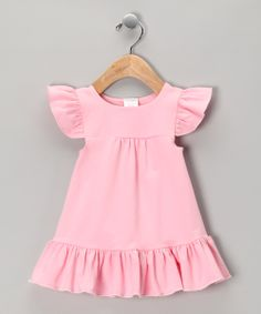 Sewing inspiration  Pink Angel-Sleeve Dress