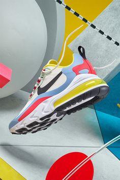 Women's Air Max 270 React 'Bauhaus' Release Date Girls Sneakers, Sneakers Nike, Streetwear Shoes, Latest Sneakers, Air Max Women, Fresh Shoes, Hype Shoes, Stylish Sunglasses, Air Max 270