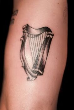 Been thinking about a harp for a while... representing, Ireland, Guinness (the beer) and Guinness (our pug).