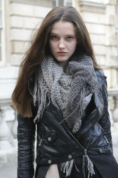 Netted crochet scarf---will have to see if I can find a pattern or attempt to recreate