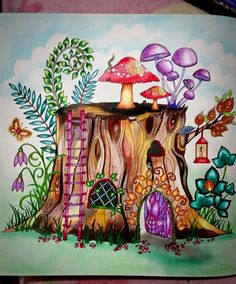 Tree Trunk Enchanted Forest Tronco Floresta Encantada Johanna