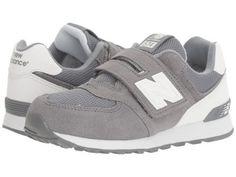 New Balance Kids - KV574v1 Reflective (Little Kid/Big Kid) (Grey/White) Boys Shoes